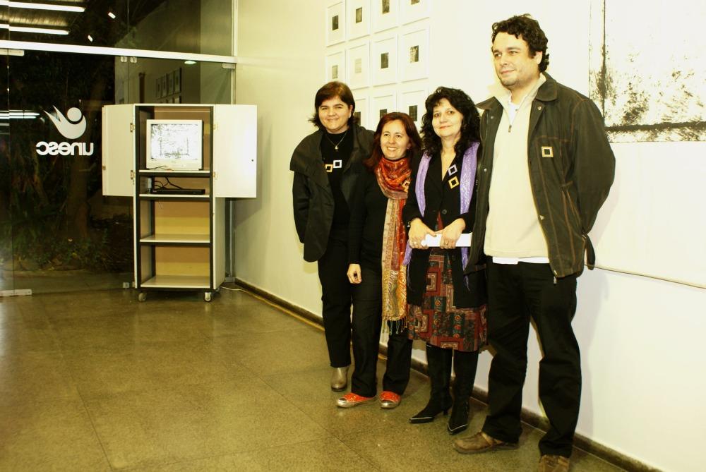 Dânia Moreira, Kátia Costa, Ana Zavadil e Antônio Augusto Bueno na abertura do evento