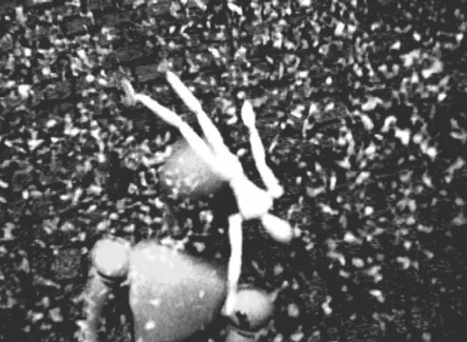imagem da videoarte Esforço, de 2008