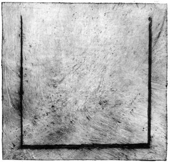 Quadrado do Espírito, monotipia de Yara Baungarten