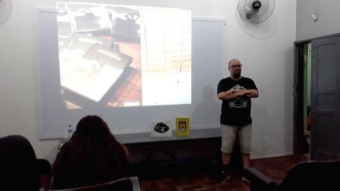 Palestra para alunos da EMEF Min. Fernando Osório